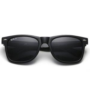 Высокое качество поляризованных солнцезащитных очков линзы Vintage Pilot очки Путники ВС очки Ленточные UV400 Мужчины Женщины Ben солнцезащитные очки с Case Box 2140