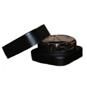 Plus petit pot en verre noir 5ML Place Cube Bouteille Container Résistance Enfant protection UV pour le stockage Lotions poudres et onguents