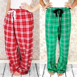 Womens Ladies Woven Lounge Plaid Sleep Bottoms Ladies Spring Female Plaid Pajamas Pants Loose Trousers for Women
