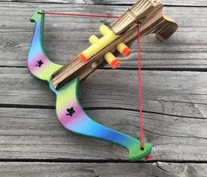 무료 배송 아이 활과 장난감 대나무 나무 촬영 화살 비 치명적 어리버리 소프트 총알 투석기 장난감 석궁 소품
