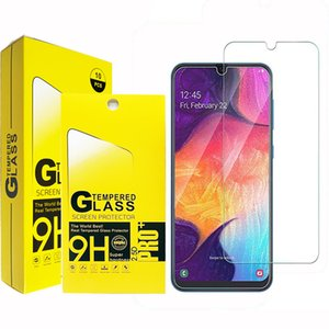2.5D Закаленное стекло экрана телефона протектор для Samsung A01 A11 A21 A31 A41 A21S A51 A61 A71 A81 A91 M01 M11 M21 M31 M51 В бумажный пакет мешок