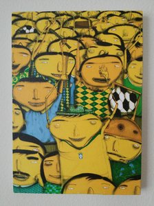 OS GEMEOS NOS SOMOS PENTA BANKSY KAWS FAIREY Art Home Decor Handpainted Oil Painting On Canvas Wall Art Canvas Pictures 200531
