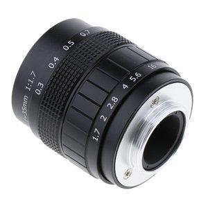 Sony Nex Kameralar İçin 35mm F1.7 CCTV Lens + C Montaj Adaptörü + 2 Makro Halkalar