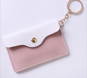 حامل بطاقة 200PCS البسيطة عملة المحفظة فتاة ذات جودة عالية جميل الحلو أزياء سلسلة المفاتيح حقيبة