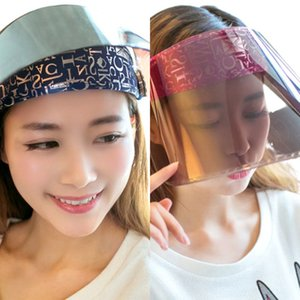 Adult Unisex Cycling Large Wide Brim Sun Visor Hat Empty Top Glitter Letters Printed Clip-on Adjustable Angle Plastic Cap