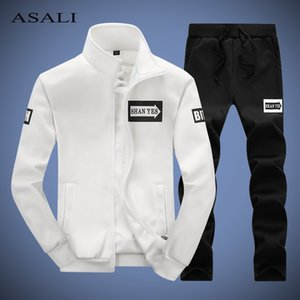 ASALI Men Tracksuit 2019 Autumn Spring Fashion Sporting Sweatshirt Pants Set Men's Clothing Comfortable Mens Track Suit