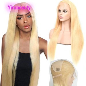 Brazilian Human Hair Full Lace Wigs Blonde 613# Color Straight Virgin Hair 10A Full Lace Wig 12-28inch Blonde Wigs