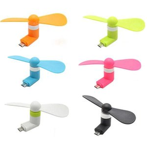 Portable USB Cooler Mini Cooling USB Fan For IOS iphone XR X Samsung Samsung Xiaomi Huawei LG Android Phone Micro USB Fans Gadgets