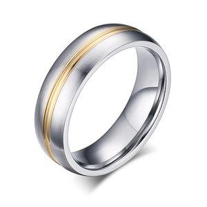 Yıldönümü Nişan Alyans 6 mm Bague Femme Âşıklar Takı Yüzük boyutu 5 için Moda Çift Tungsten karbür Band Yüzük - 13