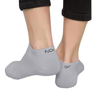 Erkek Moda Tasarımcısı Çorap Katı Renk Harfler Fck OFF Casual Ayak Bileği Çorap Giyim Iç Çamaşırı