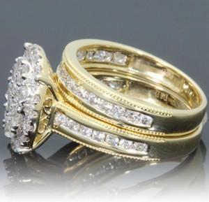Melhor venda transfronteiriça quente novo anel de diamante micro-embutido modelos femininos europeus e americanos chapeamento 18k