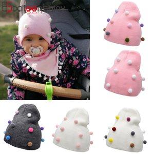 Palla Capelli Cap Colore Pompon bambino protezione infantile Balleenshiny New Baby cappello di inverno Neonato bambini Fotografia Puntelli capo Warmer