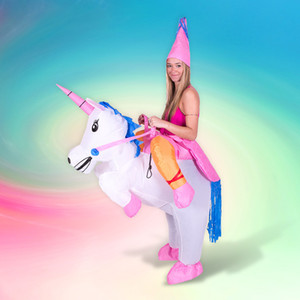 Inflatable Unicorn Costume Halloween Costumes for Women Men Kids Unisex deguisement Clothing Unicorn Cosplay Costume Party Dress