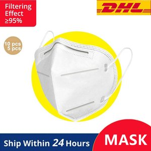 DHL FedEx máscara paquete 5-capa de filtro de máscara 99% máscara desechable a prueba de polvo al por mayor protección anti-niebla