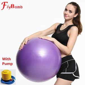 Flybomb 55-75CM Sfera di Yoga per Pilates Fitness Balance Balance Sport Fitball Palle per ginnastica Anti-scivolo Palloncini per Allenamento Fitness L491OLC C18112601