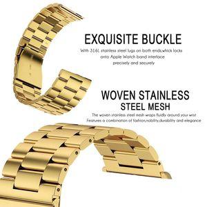 Bracelet en acier inoxydable lien Band + Adaptateur connecteur pour regarder la série 1 2 3 4 Bande 38MM 42MM Bracelet en métal pour regarder