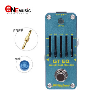 New AROMA AEG-3 GT EQ 5-Band Guitar Equalizer Mini Analogue Effect True Bypass+Free Connector