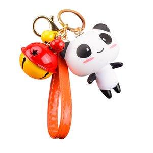 Nueva Llegada Lindo Creativo Mini Panda Forma Muñeca de Dibujos Animados Llavero CarBag Accesorio Para Amantes Mujeres Regalo de Cumpleaños Fiesta Joyería 09875