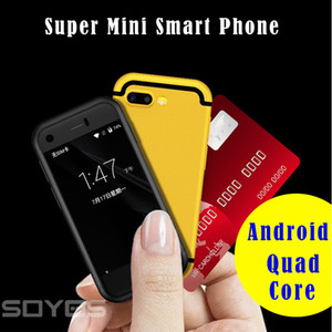 Mini Android Telefone Inteligente Original SOYES 7 S 6 S MTK6580 Dual Core 1 GB + 8 GB 5.0MP Dual SIM Alta Definição Celular Tela Celular