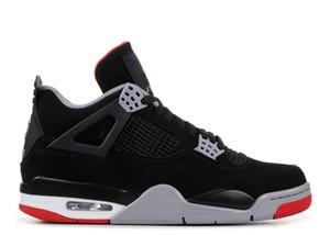مع صندوق 2019 رجل وإمرأة حذاء حذاء رياضة كرة السلة 4S ولدت أسود أحمر للرجال الرياضة المدربين الحجم US5.5-12