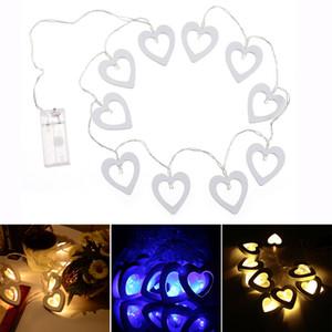 LED 사랑 문자열이 나무의 마음을 불 wholesale10 공장 창 커튼 조명 1.2M 배터리 전원 요정 웨딩 LED 라이트를 점등 모양