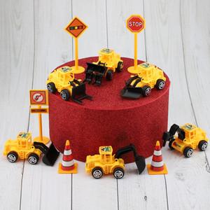 Engenharia de viaturas decorações do bolo para Acessórios Kids Birthday Party Mini Escavadeira ornamento caçoa o presente Brinquedos Truck