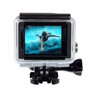 Go Pro Accessories Waterproof Housing Case for Gopro Hero 3+   4 Underwater Diving Protective Cover black