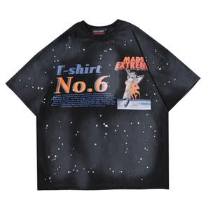 Mens Fashion Brief Painted Printed Cotton T Shirts Designer Short Sleeve Aufmaß Hip Hop Lässige Boyfriend-T-Shirt T-Y398