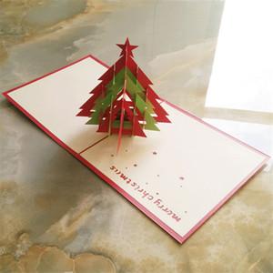 Umweltfreundlich als Show Pop Up 3D Weihnachtsgruß-Karte Weihnachtsfest Baum Laser-Schnitt-Party Einladungs-Karten Kostenloser Versand