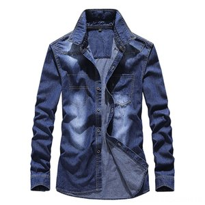 2020 New Style Jeans Coat Mens Hiphop Popular Brand LooseFit with Holes Cowboy Clothing Embroidered MENS Jacket Men's Outerwear & Coats Men'