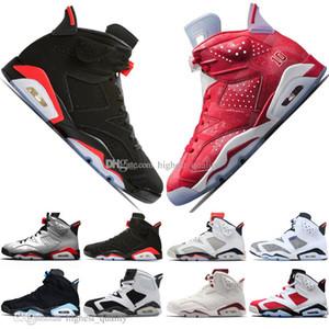 2019 bon marché Bred VI 6 6s Hommes Chaussures de basket-ball infrarouge 23 3M réfléchissant Tinker Slam dunk CNY Red Wheat Hommes Sports Chaussures de sport 11s 4s Formateurs