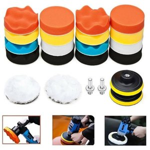 Set Buffing Waxing Pad Sponge kit For Cars Polisher Section Auto Wheels brush polish Drill 24pcs A set # R25
