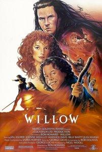 Willow 1988 Accueil Rétro Vintage Film Art Cadeaux affiche Soie Imprimer