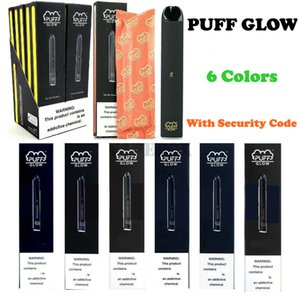 PUFF BAR GLOW LED Disposable Vape Device Pods Pre-filled Starter Kit 280mAh Battery 1.4ml Cartridge Vape Pen With Security Code