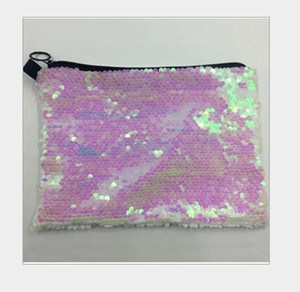 3pcs 23*16cm sublimation blank sequins cosmetic bags hot transfer printing makeup bag consumables