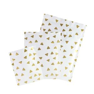 Taille Assorti de haute qualité en aluminium Mylar blanc mat Triangle d'impression à fond plat robustes Ziplock sacs avec Tear Notch