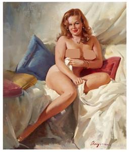 Gil Elvgren Pin Up Girls Home Decor Handbemalte HD-Druck-Ölgemälde auf Leinwand-Wand-Kunst-Leinwand Große Bilder 191111