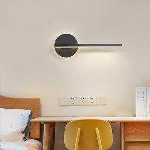 Nordic Nachttischlampe Wandlampe Schlafzimmer Nordic moderner minimalistische kreative Persönlichkeit drehbares Wohnzimmer Raum geführt Wandleuchte RW214