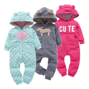 Baby Rompers Spring Autumn Cotton Padded Girls Clothing Set Full Sleeve Cartoon Toddler Hooded Clothes Newborn Infant Jumpsuits