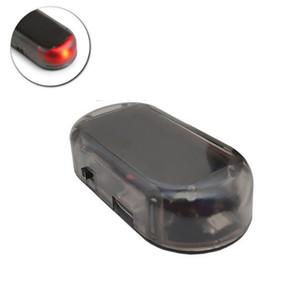 Solar USB Power Car Alarm Light Anti-Theft Warning Flash Blinking Fake Car Led Light Flash Blinking Lamp Red Blue