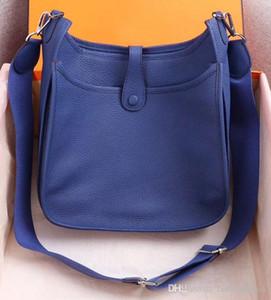 Kadın Bayanlar Debriyaj Çantalar Klasik Evelyn Dana derisi H Togo Gerçek Deri Üst Kalite Tasarımcı çanta Hollow Out Messenger Omuz Çantaları
