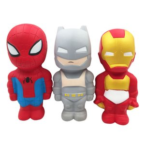 Super Hero Squishy Slow Rising Iron Man Spiderman Squishies Toy Jumbo Squeeze antistress Relief Toys Phone Strap For Kid