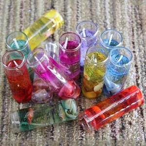 1box / 12pcs velas de cumpleaños juego de succión hornear Partido salón velas de dibujos animados lindo jalea velas de Navidad decoraciones T2I5474