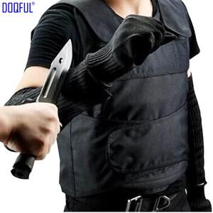 Hohe Qualität Stab Beweis Weste Anti Cut Arbeitshandschuhe Stabproof Armmanschette Outdoor Sicherheit Selbstverteidigung Wolfram Stahl Iiner Platte Taktische