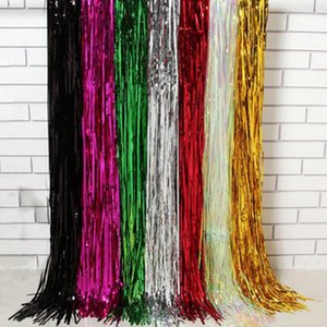 Christmas Celebration Party Background Fringe Curtain Plastic Streamers Wedding Birthday Party Decoration Backdrop
