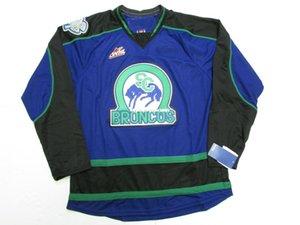 barato costume SWIFT CURRENT BRONCOS WHL PREMIER hockey jersey MÉDIO ponto adicionar qualquer número qualquer nome Mens Hockey Jersey XS-6XL
