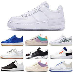 nike air force 1 af1 N354 Tipo Hombres Mujeres Zapatos 1 pálida sombra Cumbre blanco marfil voltios instructor para hombre de los deportes de la moda zapatillas de deporte ejecutan