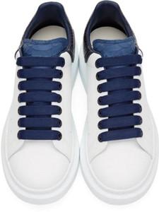 2019 Мужская мода Женская мода Смарт платформы обувь Flat Повседневный Lady Walking вскользь тапки Luminous люминесцентная белая кожа обувь