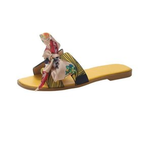renkli gökkuşağı papyon çevirme kadın daireler için düz rahat geniş genişlik sandalet terlik kızlar yaz plaj kayma flop