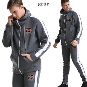 marchio YUANHUIJIA 2019 nuovo rivestimento della chiusura lampo del hoodie tuta da ginnastica sportivi tuta da uomo maschile abbigliamento sportivo